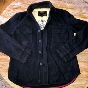 FIDELITY heavy 80% wool naval shirt/coat/MM